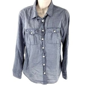 J. Crew Factory End On End Camp Perfect Fit Shirt